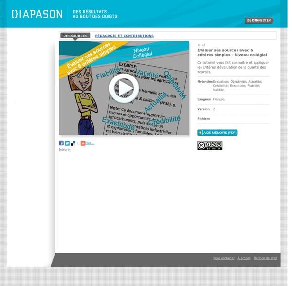 Détail Ressource - Diapason