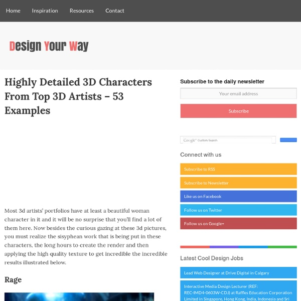 Highly Detailed 3D Characters From Top 3D Artists - 53 Examples