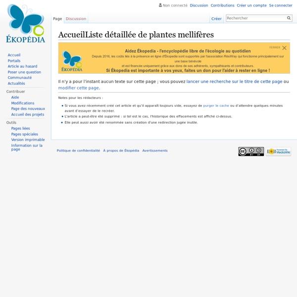 Liste détaillée de plantes mellifères