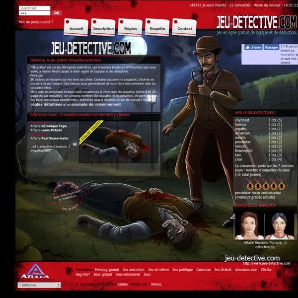 Détective : jeu d'enquetes policières, logique et déduction