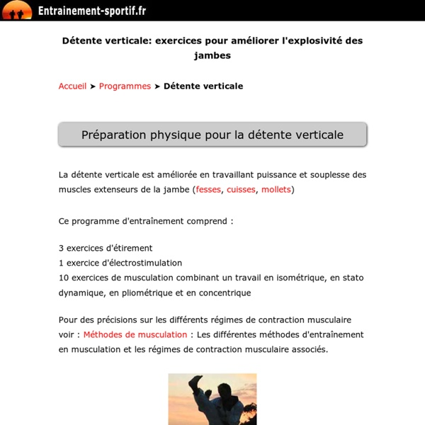 Détente verticale: 14 exercices