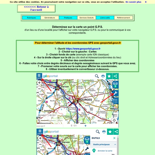 Déterminer un point GPS d'un lieu ou d'une localité sur la carte.
