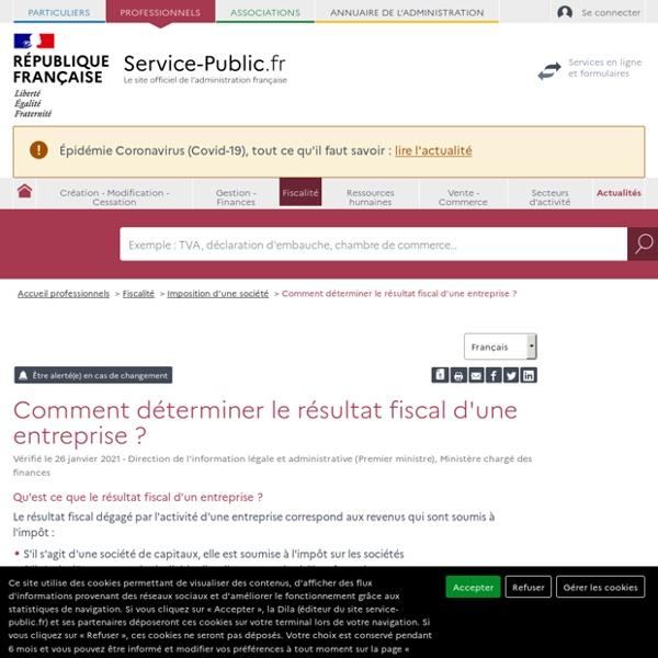 Comment déterminer le résultat fiscal d'une entreprise? - professionnels
