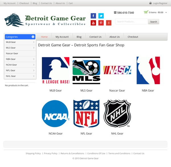 Detroit Game Gear - Detroit Sports Fan Gear Shop