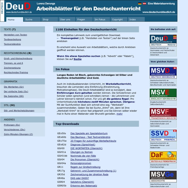 Deutsch und Deutlich