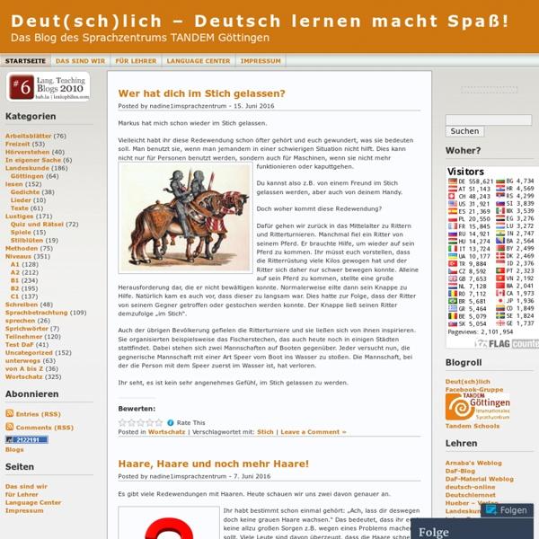 Deut(sch)lich – Deutsch lernen macht Spaß!