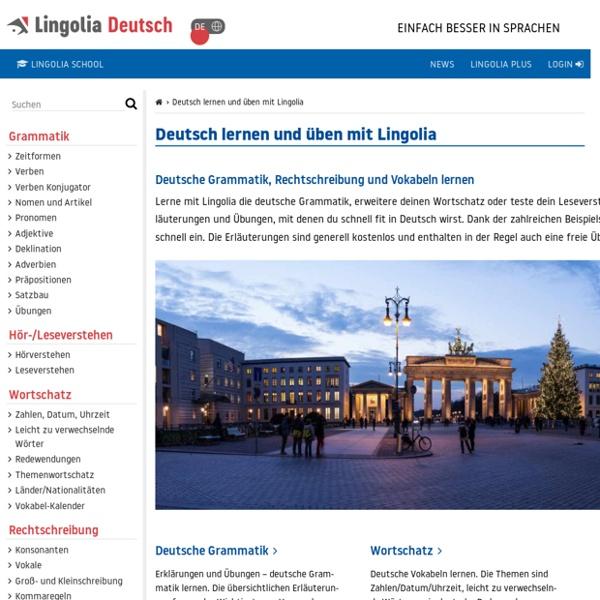 Deutsch lernen auf Lingolia