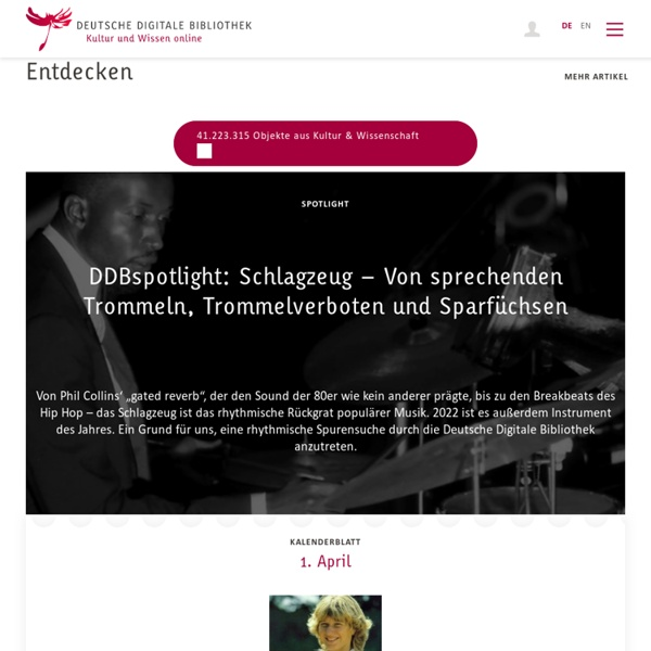 Home Page - Deutsche Digitale Bibliothek