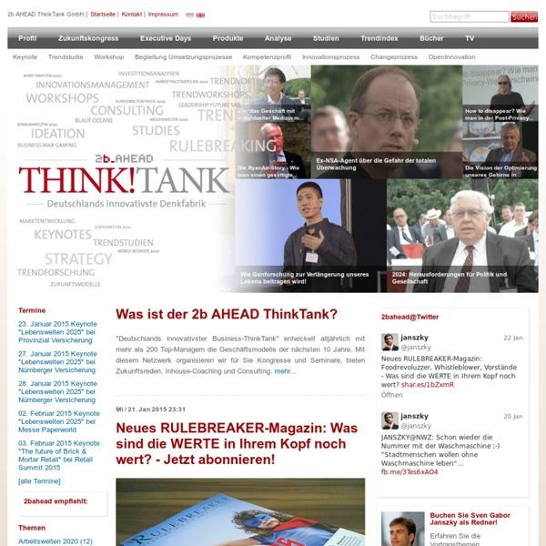 2b AHEAD ThinkTank: Deutschlands innovativste Denkfabrik