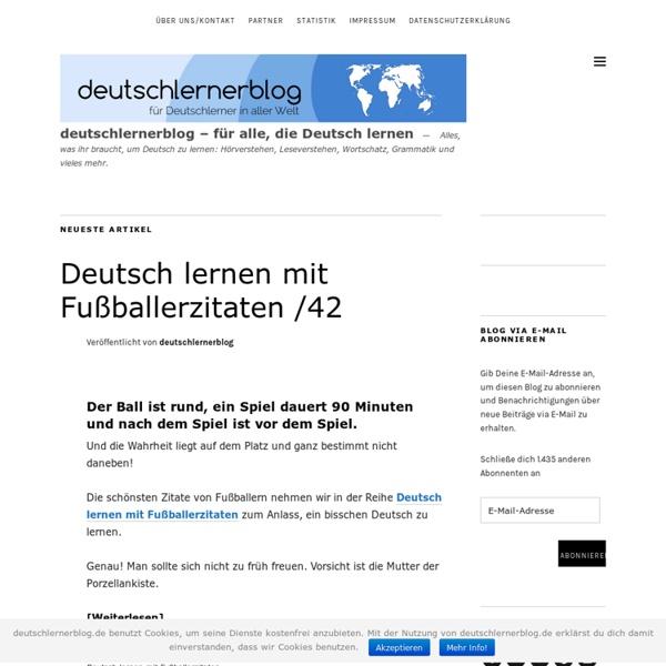 Deutschlernerblog - für alle, die Deutsch lernen - Deutsch lernen