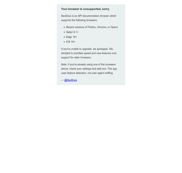 DevDocs API Documentation
