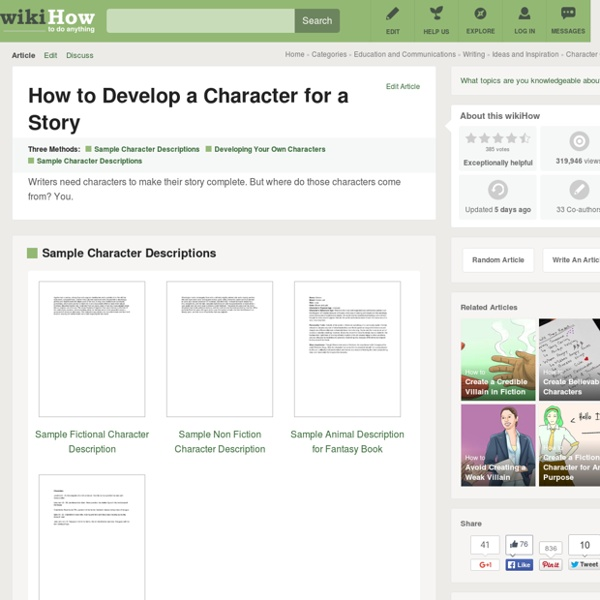 How to Develop a Character for a Story: 5 steps