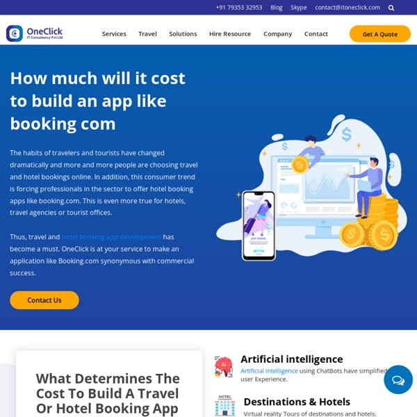 Cost to Develop Travel Booking Mobile App like Booking.com?