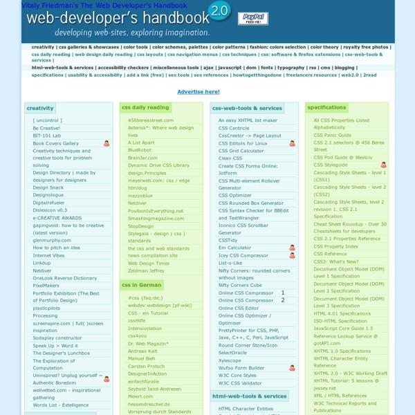 CSS, Web Development, Color Tools, SEO, Usability etc.