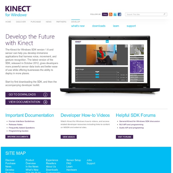 Kinect for Windows - Main Site