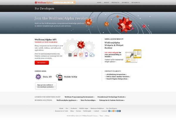 WolframAlpha APIs