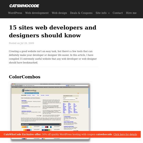 15 sites web developers and designers should know - CatsWhoCode.com