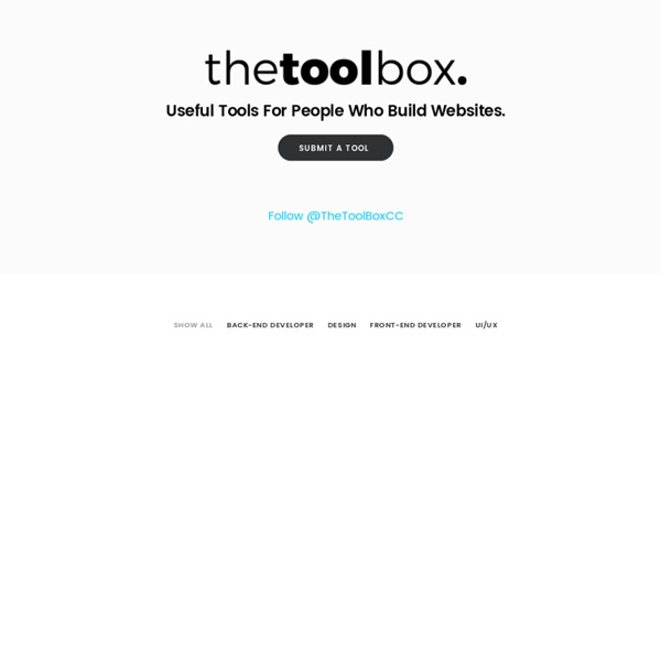 The Toolbox: a directory of useful single-page sites and apps