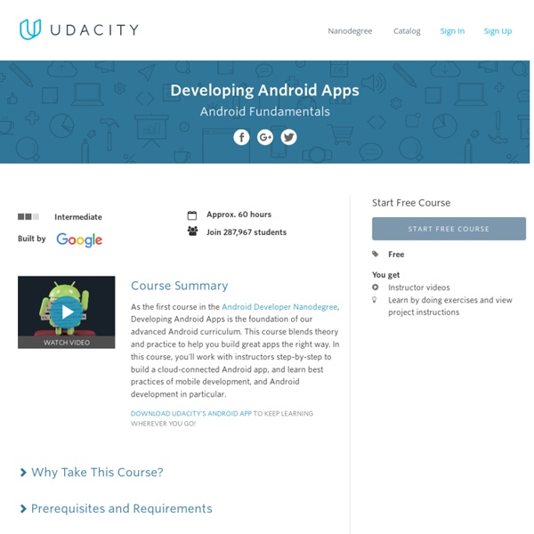 How to Develop Android Apps Online Course | Pearltrees