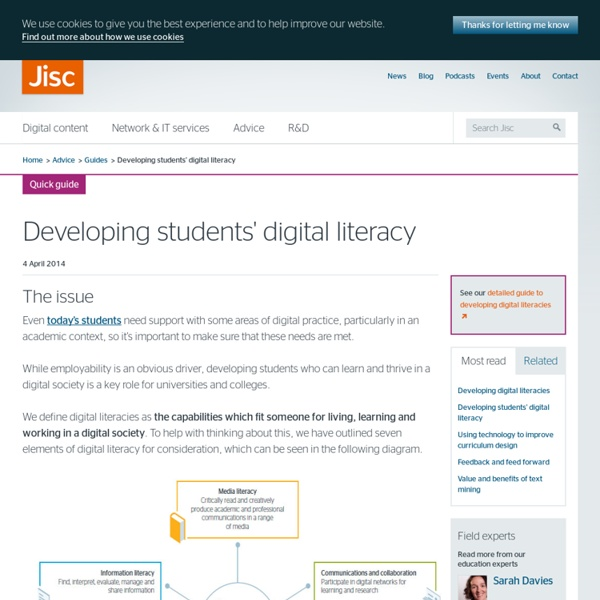 Developing students' digital literacy