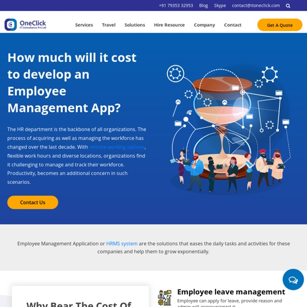 How much cost to develop app like Employee Management
