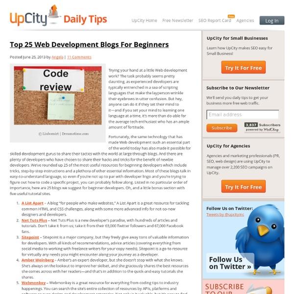 Top 25 Web Development Blogs For Beginners