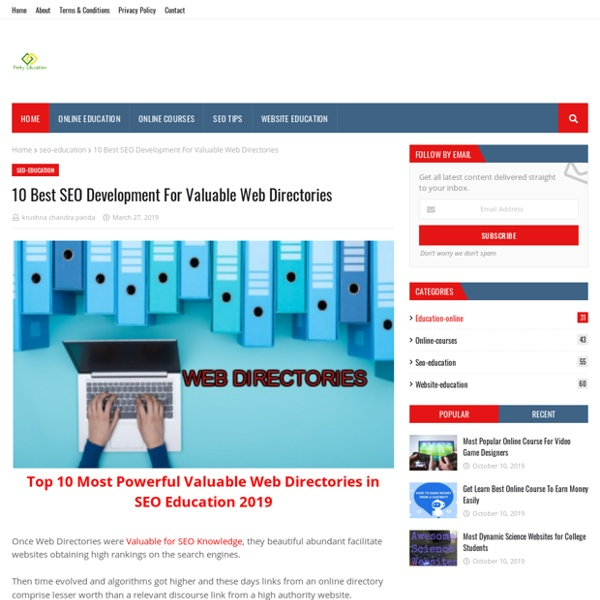 10 Best SEO Development For Valuable Web Directories