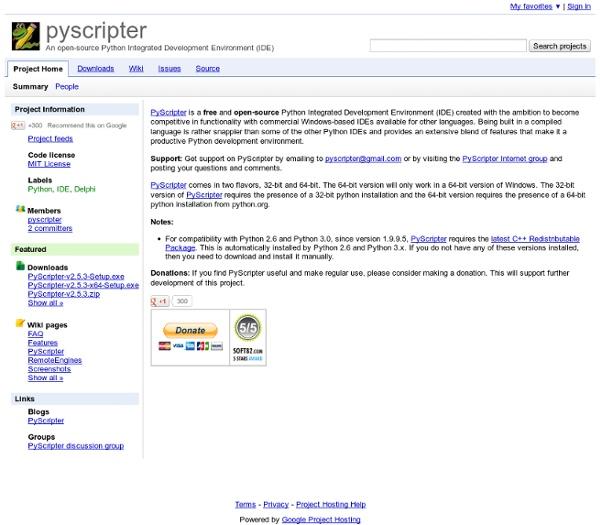Pyscripter - An open-source Python Integrated Development Environment (IDE)