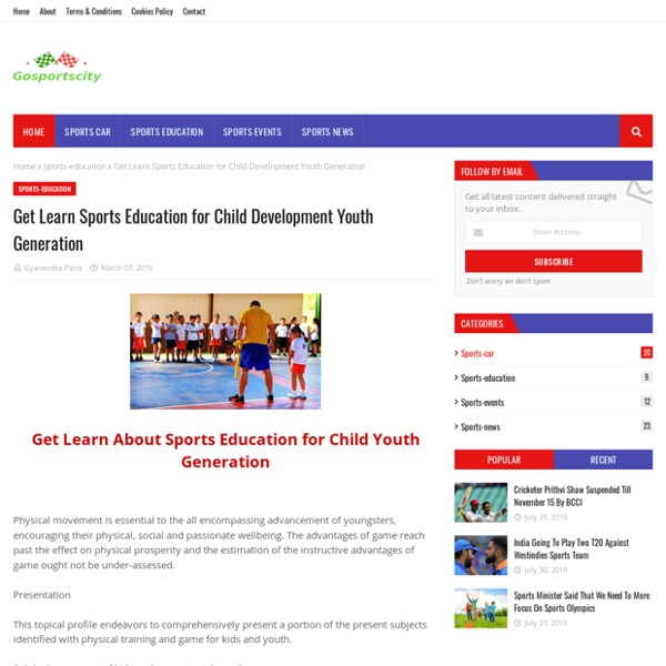 Get Learn Sports Education for Child Development Youth Generation
