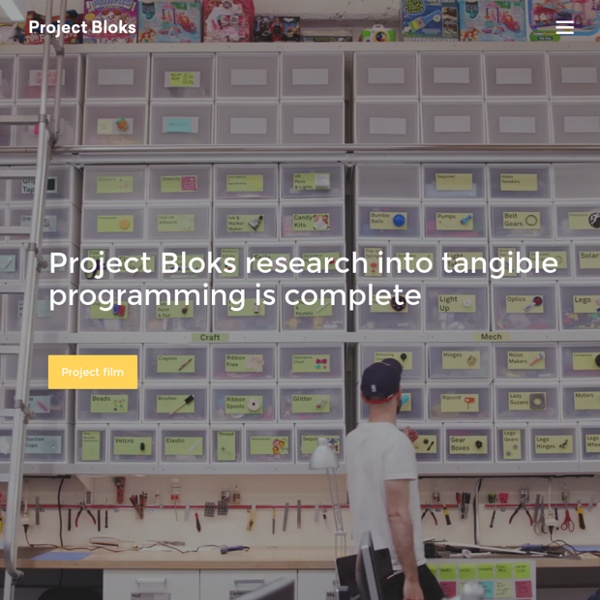 Project Bloks - Creating a development platform for tangible programming