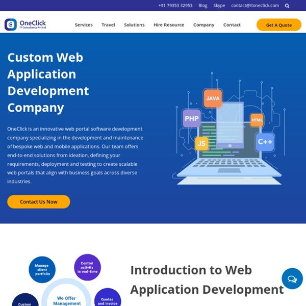 Top Web Application Development Company in USA, Web Application Development Services