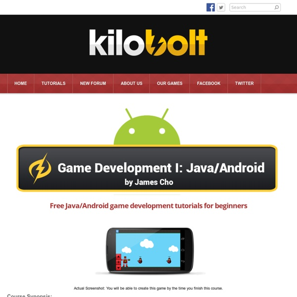 Android Game Development Tutorial - Kilobolt