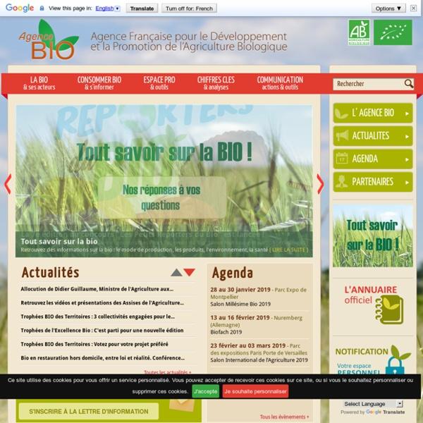 Agence Française pour le Développement et la Promotion de l'Agriculture Biologique - Agence BIO