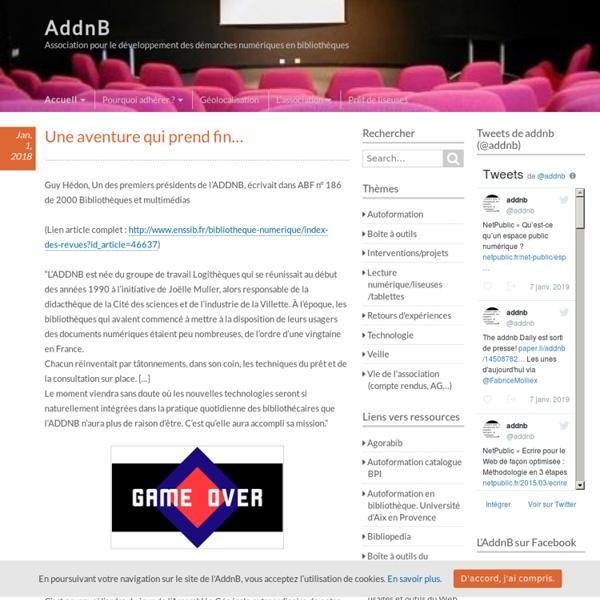 AddnB – Association pour le développement des démarches numériques en bibliothèques