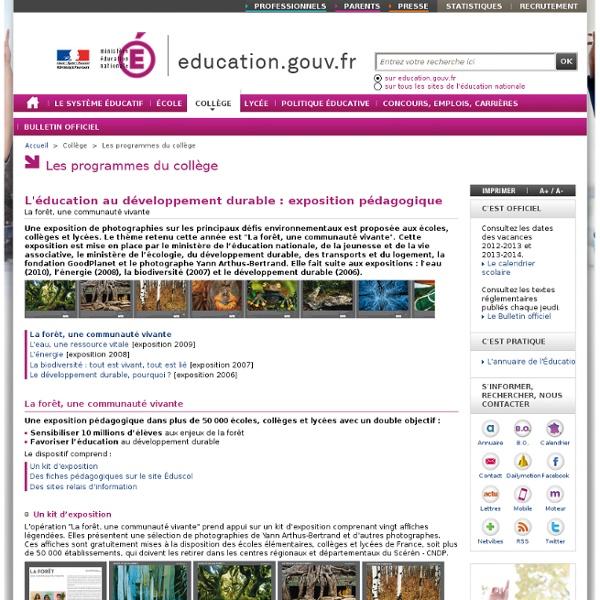 Bildung für nachhaltige Entwicklung: Didaktische Ausstellung - Ministerium für Bildung