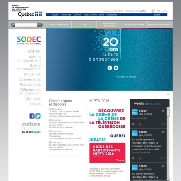 SODEC — Société de développement des entreprises culturelles