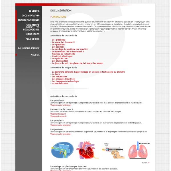 CDP - Centre de développement pédagogique pour la formation générale en science et technologie