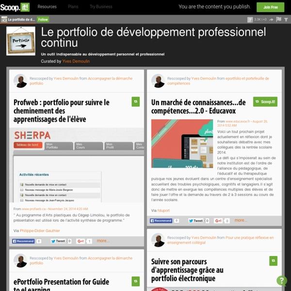 Le portfolio de développement professionnel continu