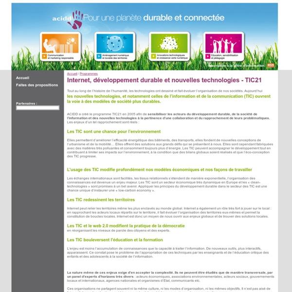 Association Communication et Information pour le Développement Durable