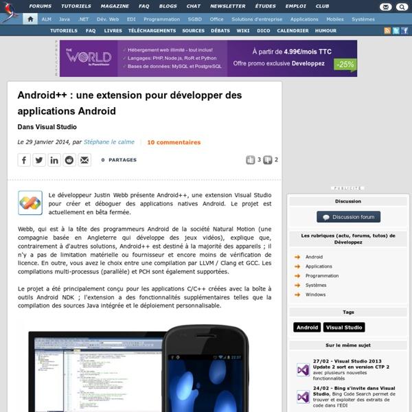 Android++ : une extension pour développer des applications Android dans Visual Studio
