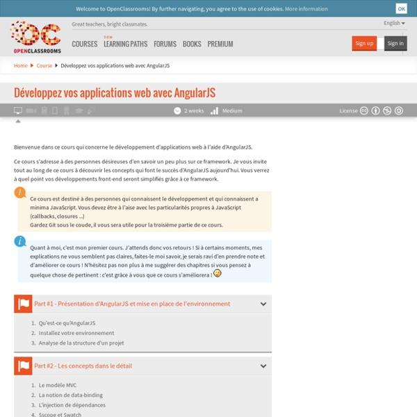 Développez vos applications web avec AngularJS