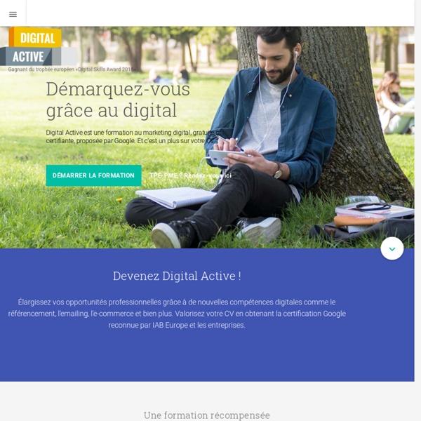 Devenez Digital Active - Formation gratuite de Google
