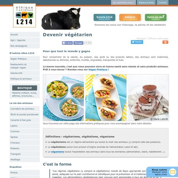 Manger végétarien
