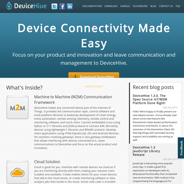DeviceHive - M2M, Machine-to-Machine Communication Framework