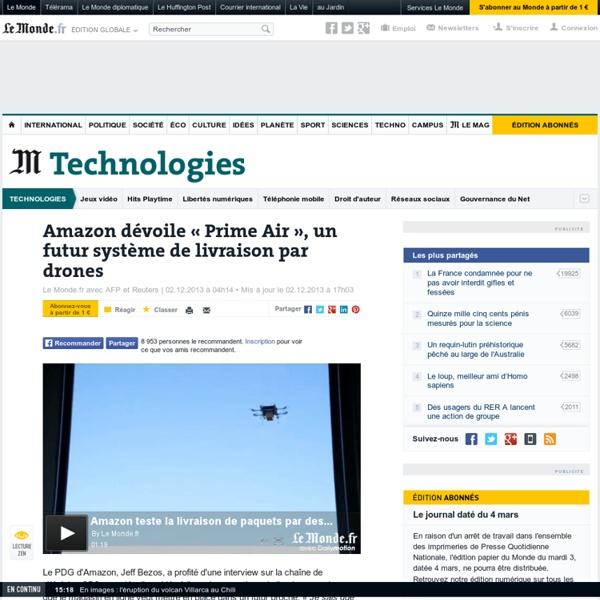 Amazon dévoile un futur système de livraison par drones