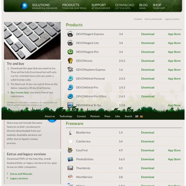 Download DEVONthink, DEVONagent & Co for Mac