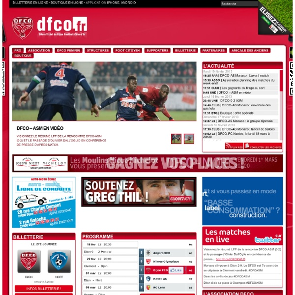 site officiel du dijon fco pearltrees