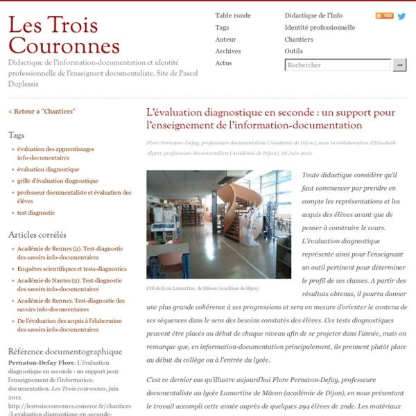 L'évaluation diagnostique en seconde : un support pour l'enseignement de l'information-documentation