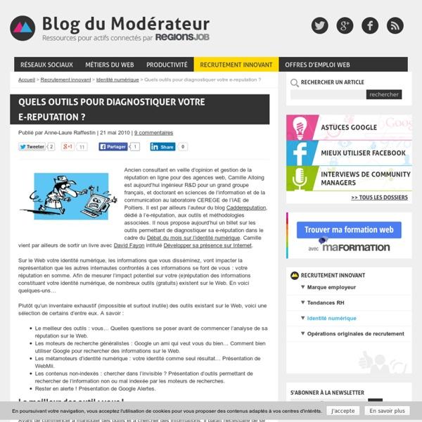 Diagnostic e-reputation-Blog du modérateur