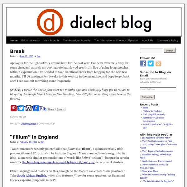 Dialect Blog